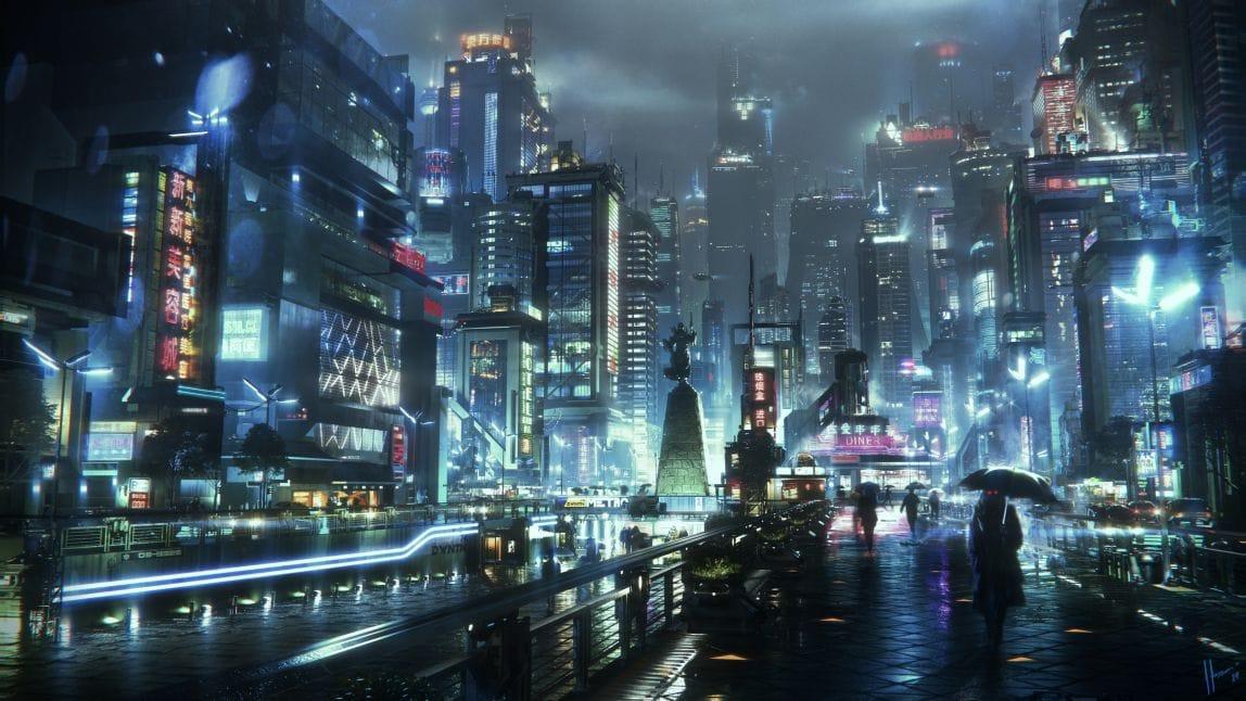 Jaime Jasso NeoShanghai Cyberpunk Matte Painting