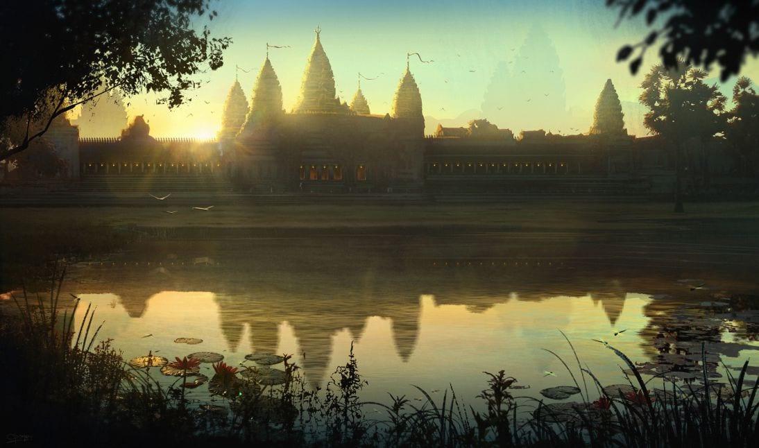 Satyaki Sarkar Ankor Wat Sunrise Concept matte Painting