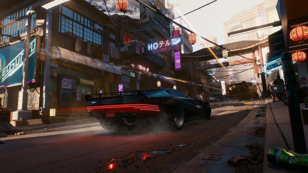 Cyberpunk City Street