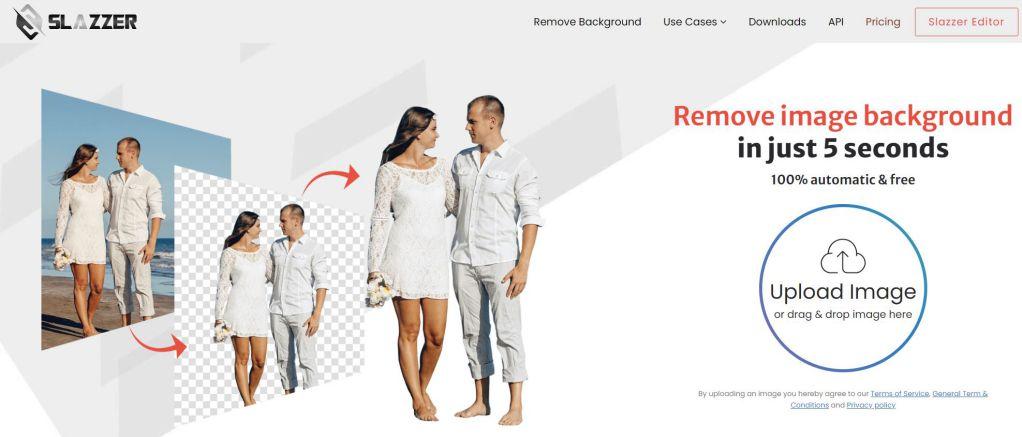 Slazzer remove image backgrounds online