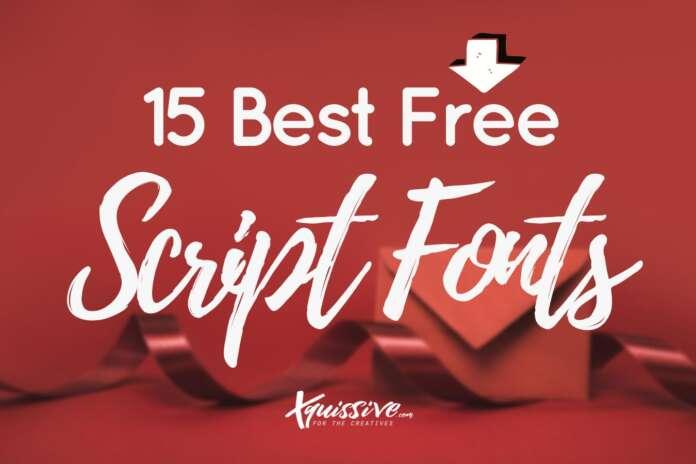 15 Best Free Script Fonts