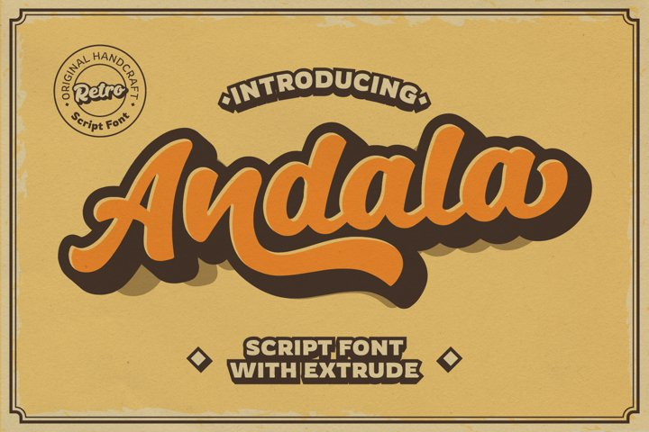 Free Andala Script Font