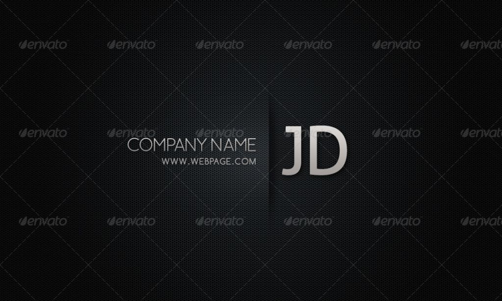 blackish business card template