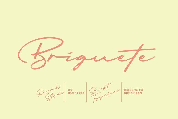 Free Briguete Natural Brush Font