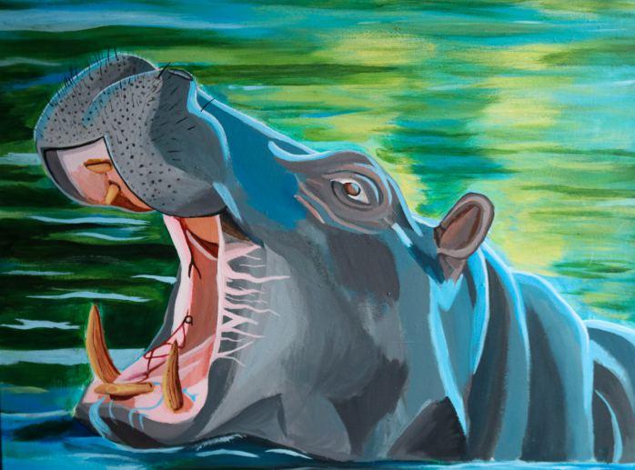 Hippopotamus Painting - Brronte
