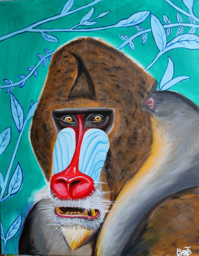 Monkey Painting - Brronte