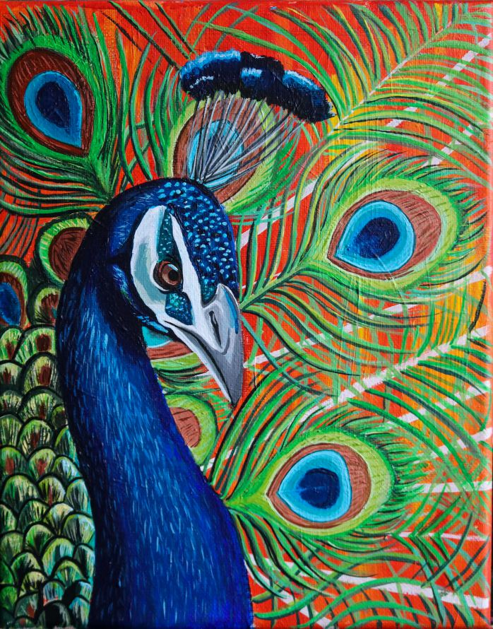 Peacock Painting - Brronte