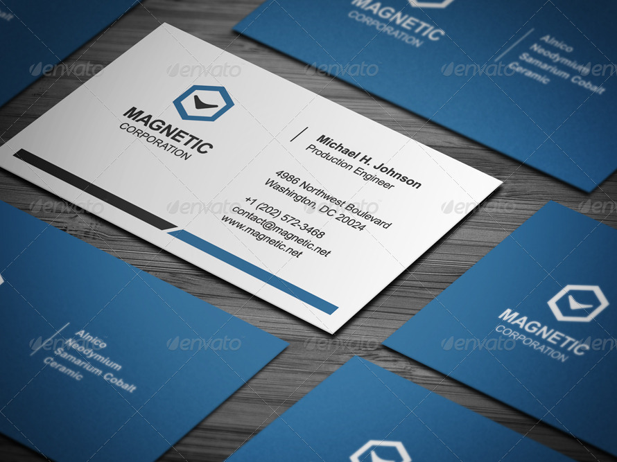 Creative Business Card blue template