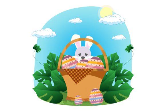 Easter Egg Bunny Basket Collection Graphics