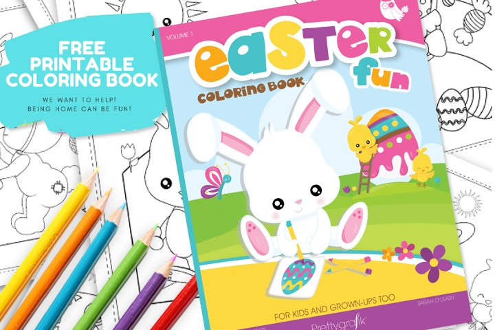 FREE Printable Easter Coloring Book,