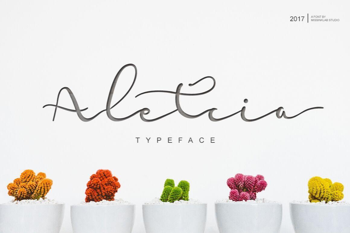 Free Aletcia Script Font