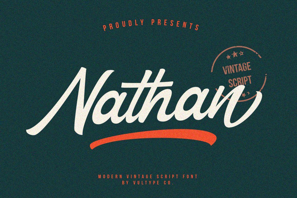 Free Nathan Vintage Script Font