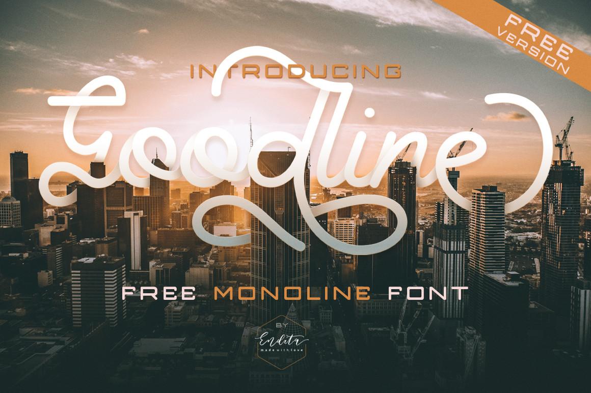 Free Goodline Monoline Script Font