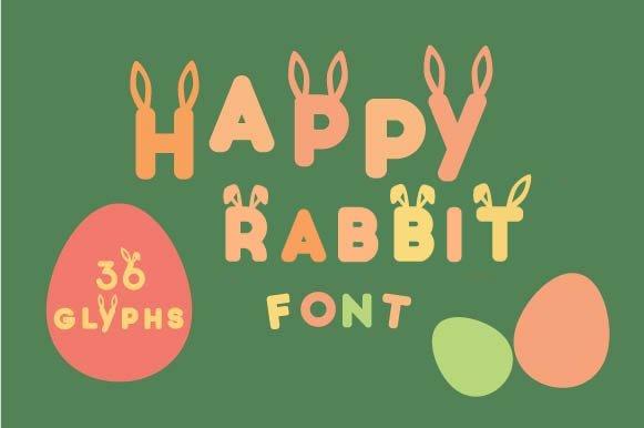 Happy Rabbit Easter Font
