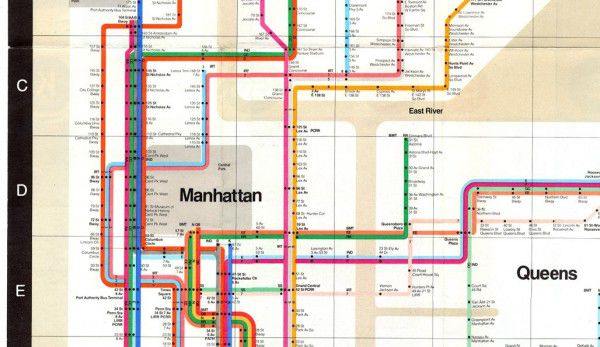 Massimo Vignelli, New York City Subway Map
