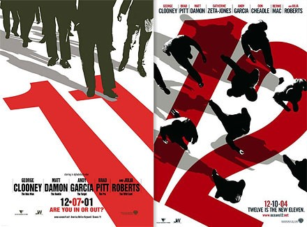 """""""Oceans 11 and Oceans 12"""" Poster c: Neville Brody"""