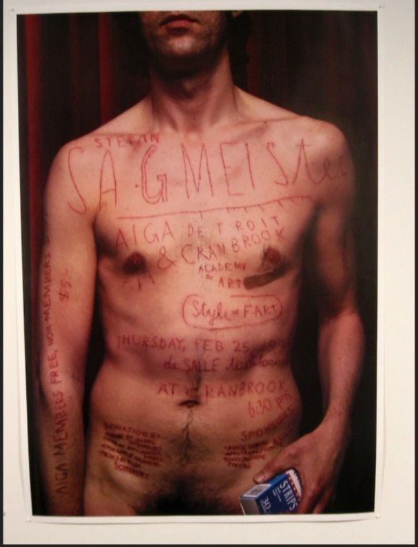 Aiga Detroit Poster, 1999 C: Stefan Sagmeister