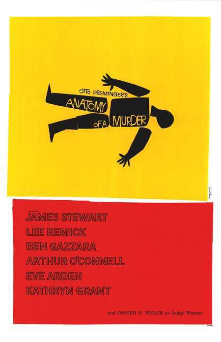 Anatomy of a murder (poster), c: Saul Bass