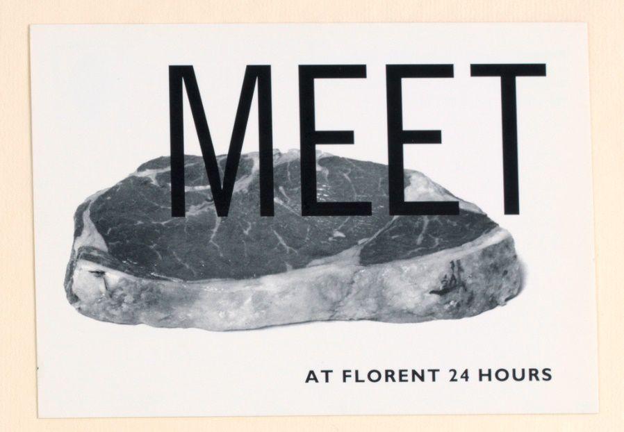 Florent Restaurant Ad, c: Tibor Kalman