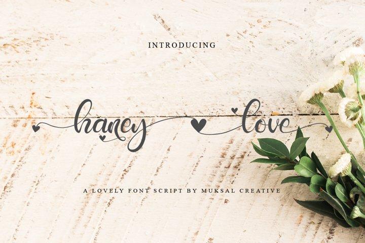 Free Haney Love Script Font