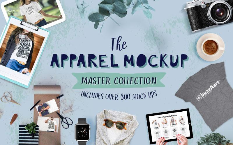 300 Mockups for Apparel
