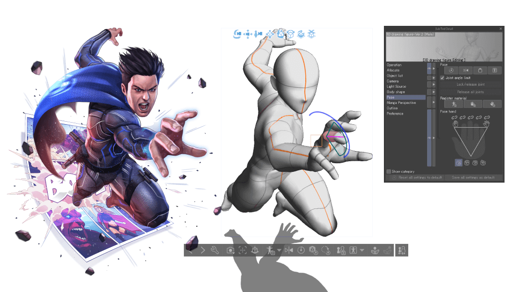 3D references in Clip Studio Paint