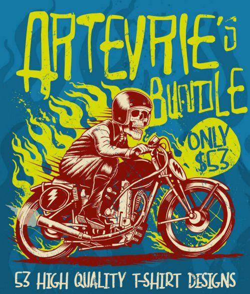 Artevrie T-shirt designs bundle