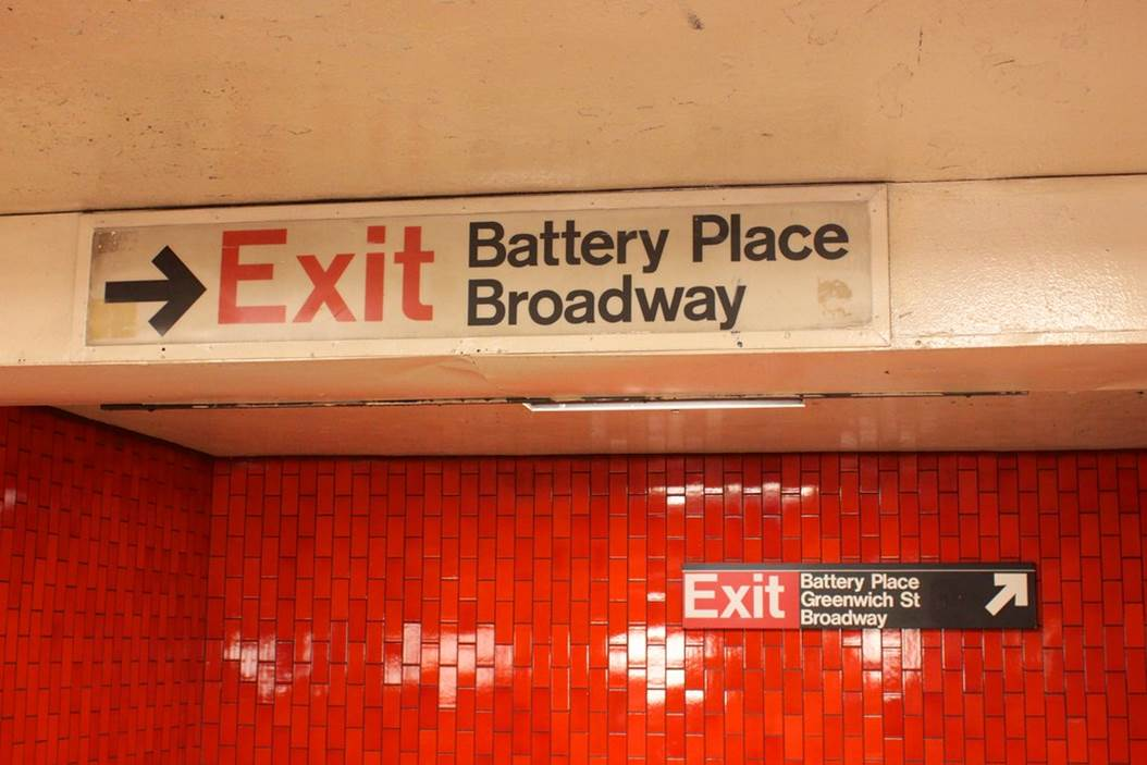 Helvetica Font Subway