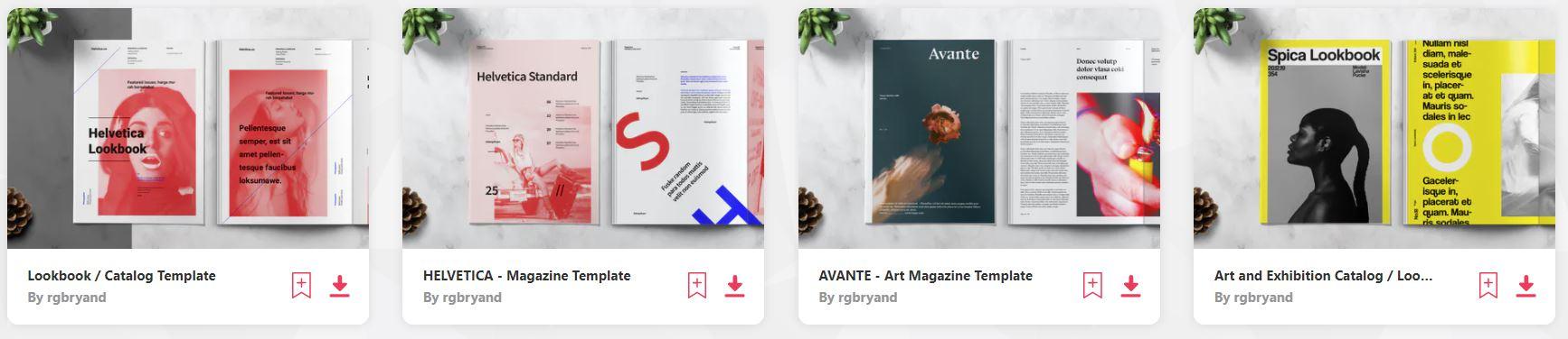 Helvetica Magazine Templates