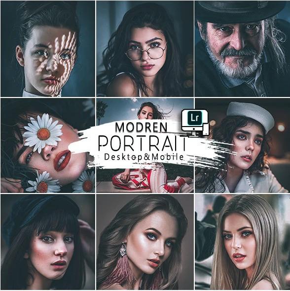 Modern Portrait Presets Mobile and Desktop Lightroom