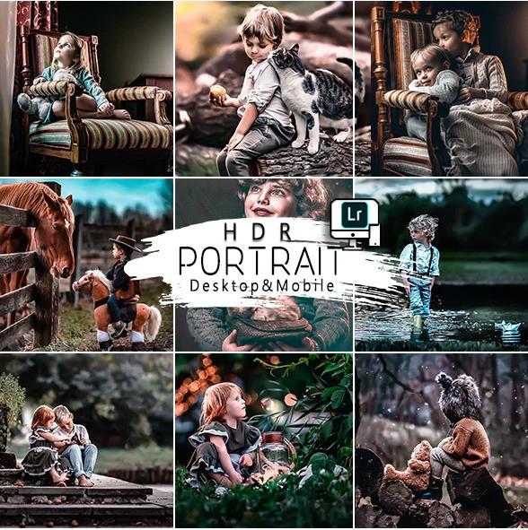 Portrait HDR Presets For Mobile and Desktop Lightroom