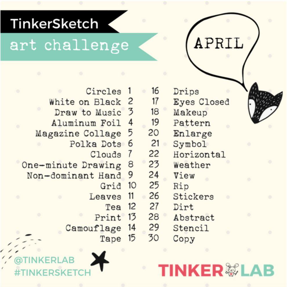 Tinkerlab April Prompt List