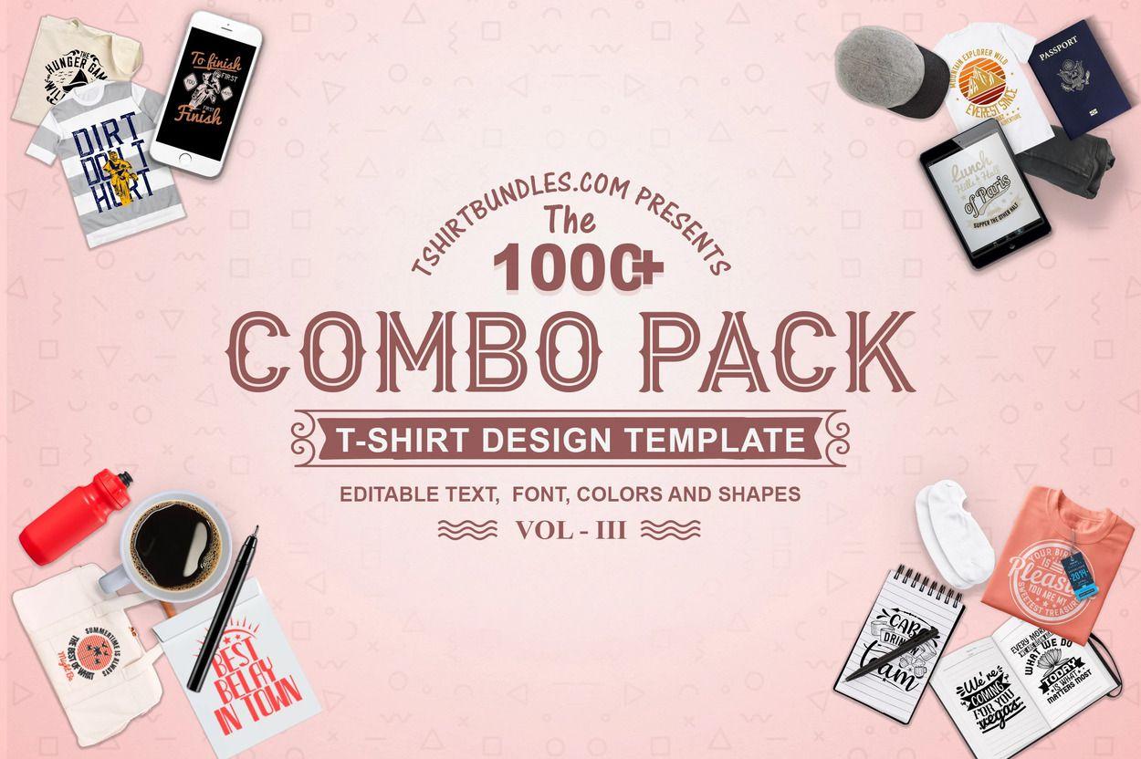 1000+ designs T-shirt Bundles Combo Pack