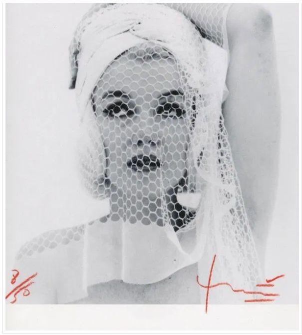 Bert Stern (1929-2013) - Marilyn looking up in the wedding veil (2)
