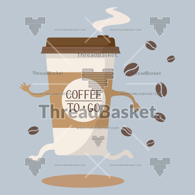 Coffee Take Out T shirt Design