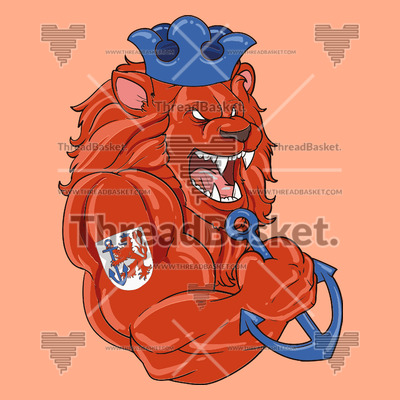 Dusseldorf Lion T-shirt Design