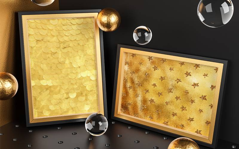 Free Golden Backgrounds 3