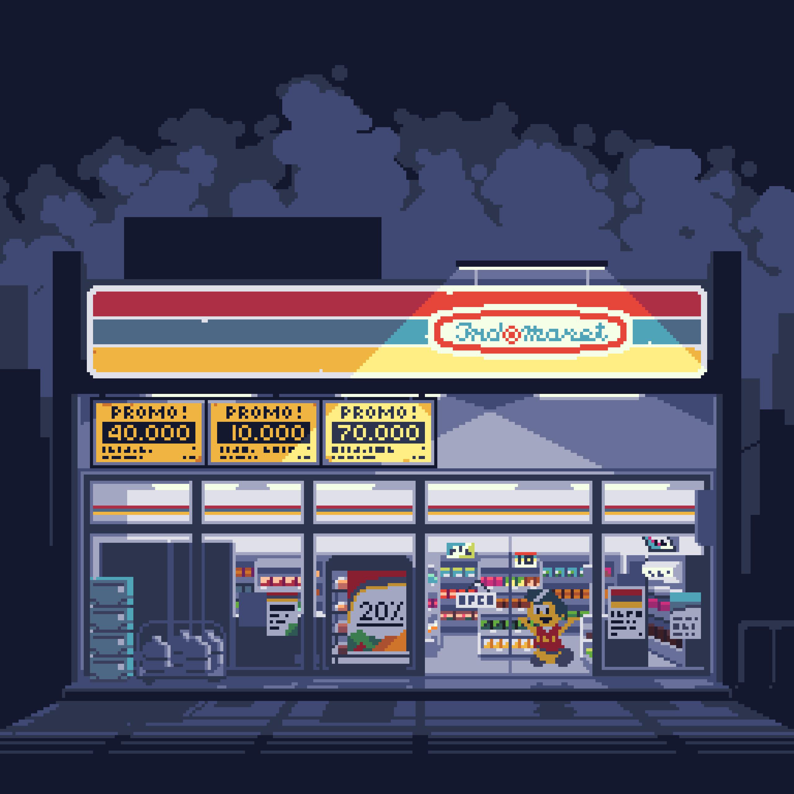 Indomaret pixelart by frosty_rabbid / Wildan R²