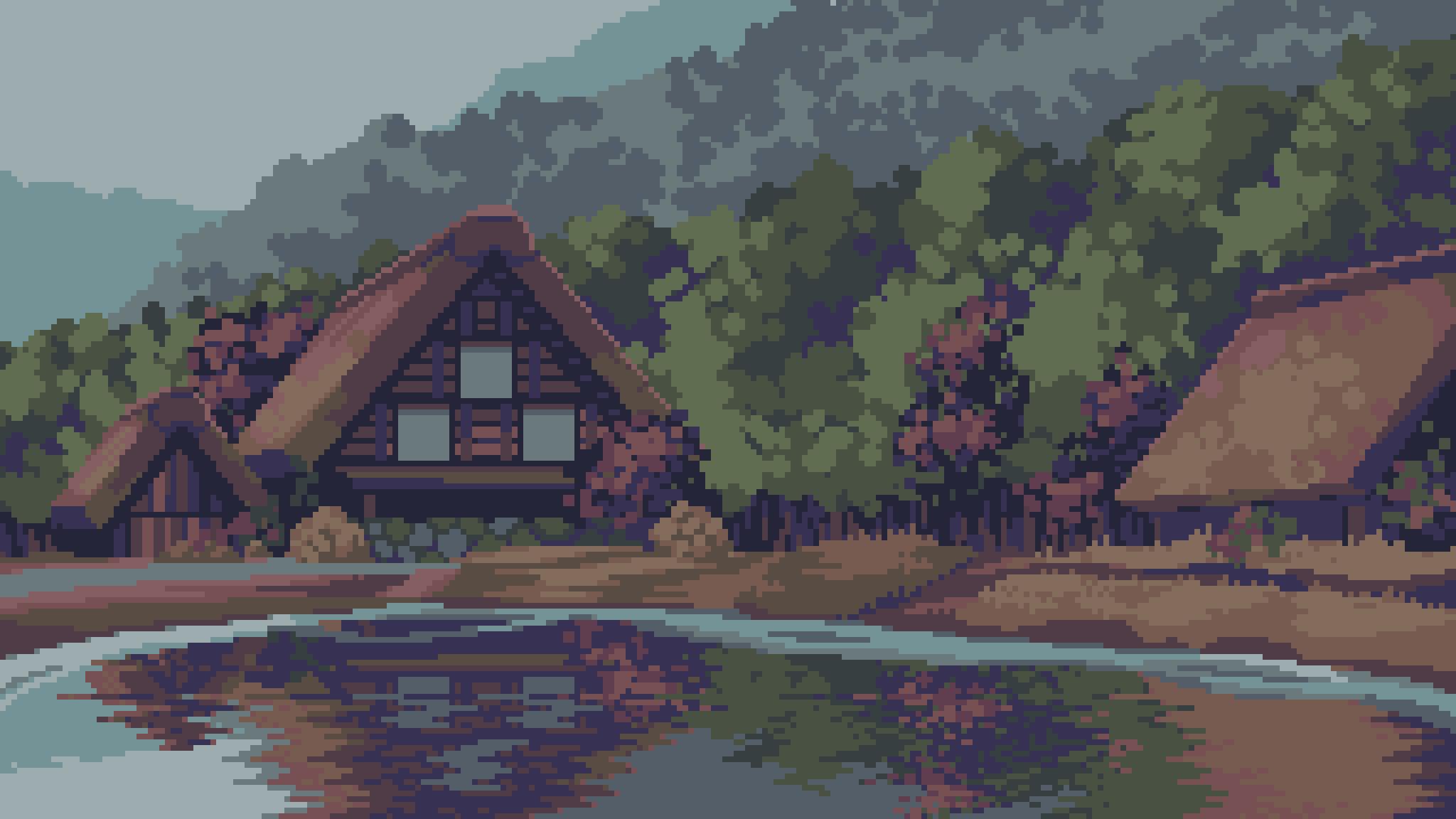 House in the forest pixelart by frosty_rabbid / Wildan R²