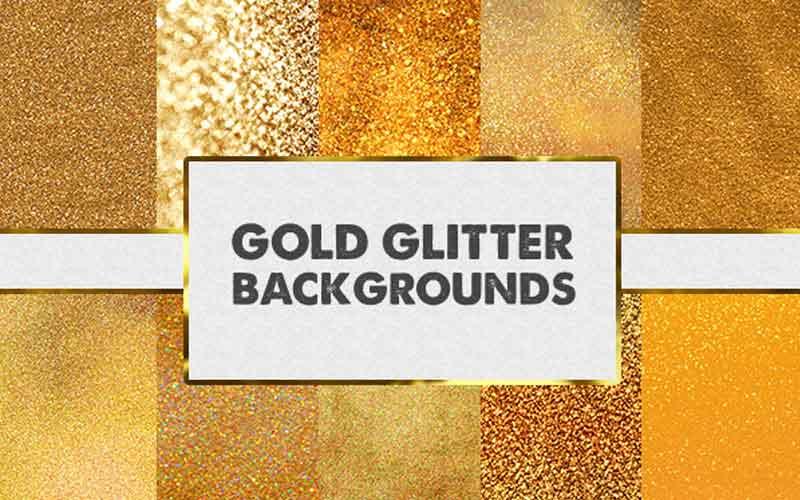 free gold glitter backgrounds bundle